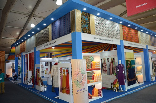image of Thematic Display of Indian Handicrafts & Handlooms at Make In India Week organized at MMRDA Ground, Mumbai from 13th - 18th January, 2016.Photo