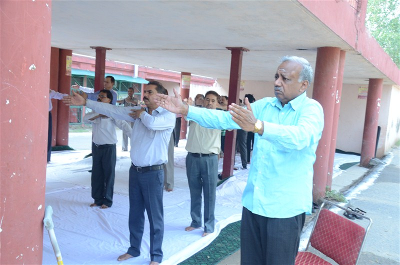 image of International Yoga Day,2016 celebration at Office of Development Commissioner (Handicrafts)